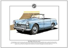 MG MIDGET Mk1 (1961-64) - Fine Art Print - A4 size picture image - MKI Mark One