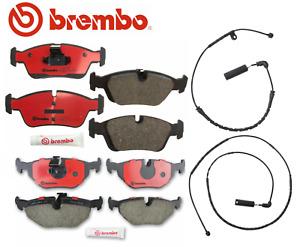 Front Brake Pads Rear Brake Pad Set Ceramic OEM Brembo +Sensor BMW 323i 325i 328