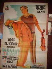 BARSAAT (1949) RAJ KAPOOR NARGIS BOLLYWOOD ORIGINAL VINTAGE POSTER