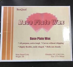 Base Plate Wax Pink - All Season -  5 lb - Besqual - 175 x 90 x 1.5mm Sheets