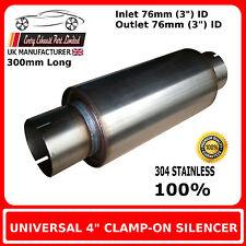 """4 """"X 8"""" Clamp In Acciaio Inox Silenziatore di scarico di corpo, 3 """" (76mm) Bore"""