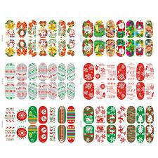 14X/Sheet Christmas Nail Art Sticker 3D Design Manicure Tips Decal Wrap Decor LJ