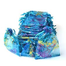 100pcs Sheer Coralline Organza Favor Gift Bags Jewelry Pouches Wedding Party Bag