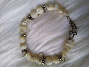 Boho Bracelet Women's Semi-precious Stones Mother of Pearl