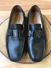 Salvatore Ferragamo Sardegna Driving Moccasin Loafer Shoe Black 9.5 EE $620
