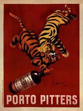 Porto Pitters by Leonetto Cappiello Art Print Vintage Wine Bar Poster 24x32