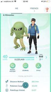 Pokémon Go Level 40 Account - 274 Shiny - 2,711,624 Stardust - Any Team  PTC log