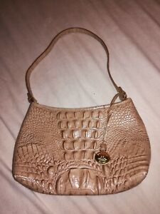 BRAHMIN Anytime Mini Croc Embossed Leather Shoulder Bag Small (B12)