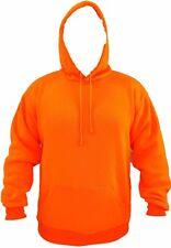 Mens Hoodie Pullover Hooded Sweatshirt Black Orange Grey Safety Green