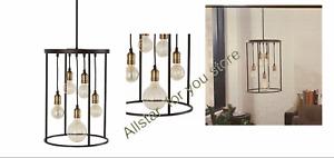 allen + roth 5-Light Bronze Industrial Pendant Light
