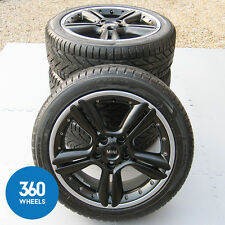 "GENUINE MINI COUNTRYMAN 18"" R127 2 PIECE ALLOY WHEELS WINTER TYRES R60 R61 SET"