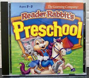 Reader Rabbits Preschool Ages 3-5 PC Learning Interactive Homeschool Windows/Mac