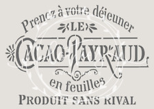 A5 Stencil CACAO-PAYRAUD Fabric Furniture Cards ❤ Vintage Shabby Chic 190 mylar