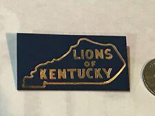 Lions Club INTERNATIONAL Pins - LIONS OF Kentucky 1963 Blue Plastic  Rare MD-43