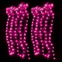 100% Silk Fan Veils 1 Pair LED Belly Dance Silk Fan Veil Stage Performance Props