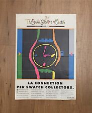 SWATCH COLLECTORS 1991 VINTAGE POSTER - LOTS OF DOTS - MENDINI cm. 34 x 83 CIRCA