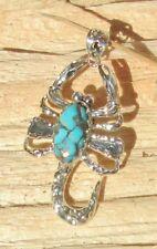 Colgante Escorpión turquesa Cobre Turquesa Azul Plata Esterlina 925