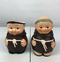 Vintage Goebel Hummel Figurines Franciscan Monk Friar Tuck Creamer Sugar Holder