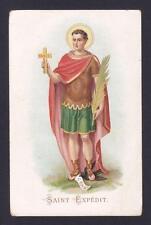 SANT'ESPEDITO 05 SAINT EXPÉDIT SANTINO HOLY CARD IMAGE PIEUSE GRASSE primi '900