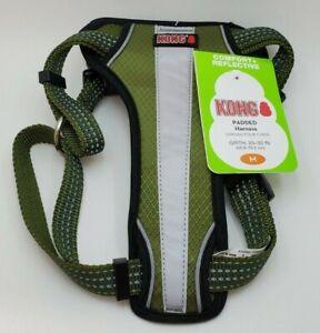 Kong - Comfort + Reflective - Padded Dog Harness - Sz Medium - Girth 20-30 Inch