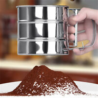 Stainless Steel Mesh Flour Icing Sugar Sifter Sieve Strainer Cup Baking Tool San