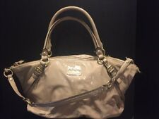 Coach Madison Patent Leather Sophia Satchel Tan Very Good Condition! 8980d8480bd99