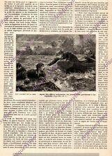 CANADA ST LAURENT RIVER SAUVETAGE LANGSTONE FEMME SAUVETEUR 2 PAGE JV 1888 PRINT