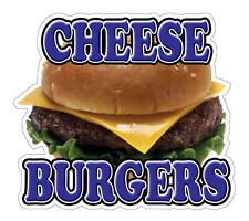 Cheeseburgers Concession Decal hamburger cheese cart trailer stand sticker