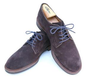 Brunello Cucinelli Brown Snuff Suede Plain Toe Oxford Dress Shoe SZ 43 US 10