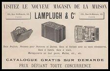 Publicité Lamplugh & C°  Accessoires de voyage  car vintage print  ad  1899 - 3h