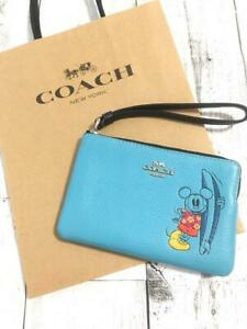 COACH Japan OUTLET Coach x Disney Mickey Surfing Wristlet Pouch Japan Limited