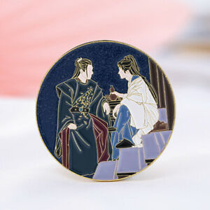 WORD OF HONOR Shan He Ling Wen Kexing Zhou Zishu Xu Metal Badge Brooch Gifts New