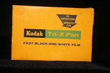 Vintage Sept.1962 Kodak Tri-X Pan Fast B&W Film Pack TX 520 Exposures 12  SEALED
