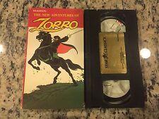 FILMATION'S THE NEW ADVENTURES OF ZORRO RARE STAR CLASSICS VHS 1981 CARTOON SHOW