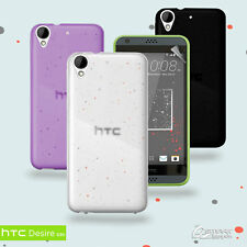 Matte Gel TPU Jelly Soft Case Cover For HTC Desire 530  + Screen Guard