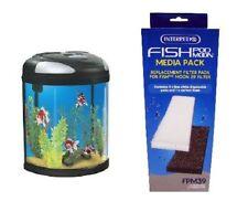 Interpet 0393 Fish Pod Box Moon Tank 39L Filter Pads Media Pack Carbon FPM39