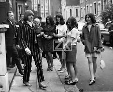 BRIAN JONES  Drogue COSTUME RAYURE Fashion SIXTIES Rolling Stones Fans Photo '67