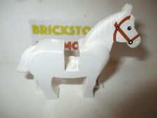 Lego - 1x Horse Cheval Pferd Cavallo 4493 4493c01pb04 White/Blanc/Weiss