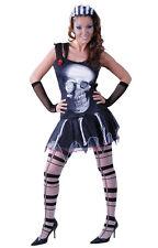 Disfraz halloween mujer barato zombie calavera gotico