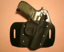 Leather/kydex hybrid OWB beltslide holster CZ 82/83