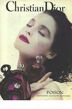 PUBLICITE  ADVERTISING  1991   DIOR produits de beauté cosmétiques senteurs