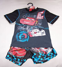 Disney Cars McQueen Boys Grey Black Printed Pyjama Set Size 4 New