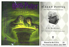 ''Harry Potter and the Half-Blood Prince'' 1st US Edition