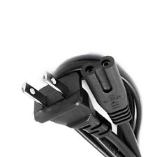 US 2-Prong Two Prongs Port AC Power Cord Cable Connector for PS2 PS3 Slim New