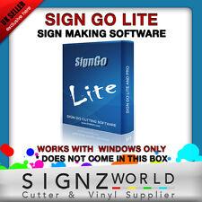 Signgo LITE software di taglio per Liyu Pcut Roland DGO Cutter plotter molti più