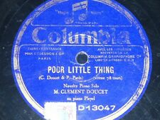 PIANO 78 rpm RECORD Columbia DOUCET / WIENER Poor little thing / Brussels Blues