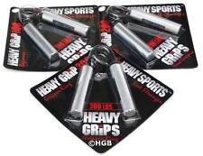Heavy Grips Hand Gripper POPULAR COMBO HG100-200-300  Build grip + Finger Bands