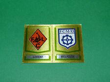 N°401 A-B BADGESFC LORIENT MULHOUSE D2 PANINI FOOTBALL 88 1987-1988