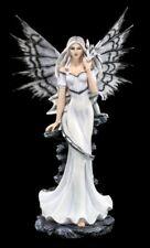 tamaño Elfos Figura con dragón - Blanco Estatua XXL FANTASY Decoración Magia