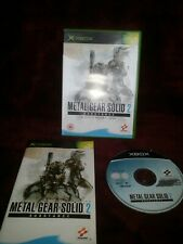 Metal Gear Solid 2 Substance Xbox - complete -.free postage
